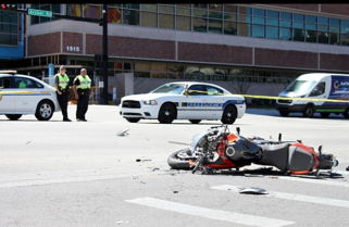 GPD officers work at the scene of the accident.